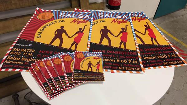 Salsateket - plakat og flyers